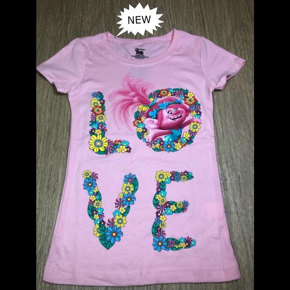 07274b7a Dreamworks Trolls Shirts & Tops | Trolls Pink Princess Poppy Love ...